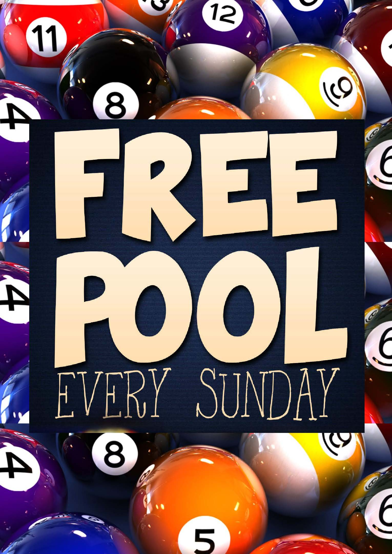 FREE POOL SUNDAY